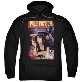 Pulp Fiction Poster Adult Pull Over Hoodie Black