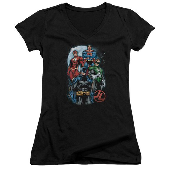 Jla The Four Junior V Neck T-Shirt