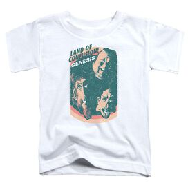 Genesis Land Of Confusion Short Sleeve Toddler Tee White T-Shirt