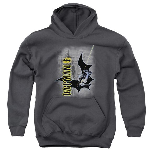 Batman Swing Into Action Youth Pull Over Hoodie