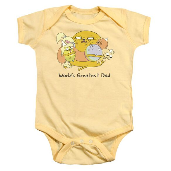Adventure Time Worlds Greatest Dad Infant Snapsuit Banana