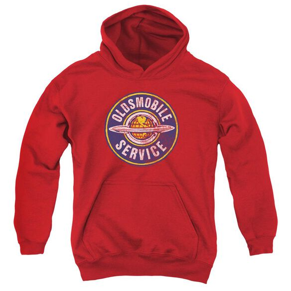Oldsmobile Vintage Service Youth Pull Over Hoodie