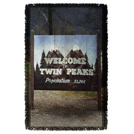 Twin Peaks Sign Woven Throw