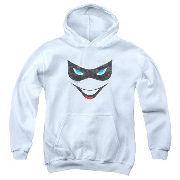Batman Harley Face Youth Pull Over Hoodie