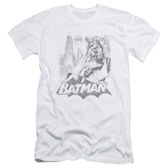 BATMAN BAT SKETCH - S/S ADULT 30/1 - WHITE T-Shirt