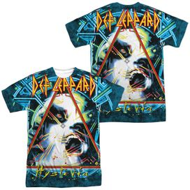 Def Leppard Hysteria (Front Back Print) Short Sleeve Adult Poly Crew T-Shirt
