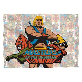 Masters Of The Universe Heroes Pillow Case White