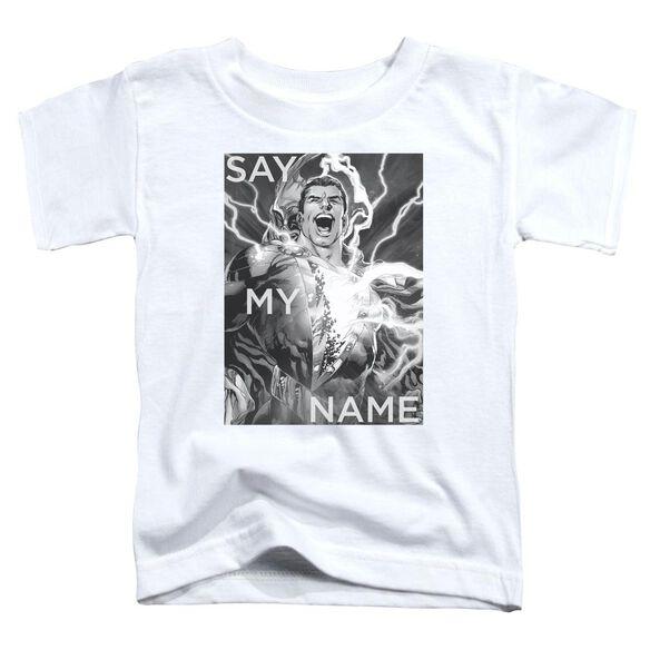Jla Say My Name Short Sleeve Toddler Tee White T-Shirt