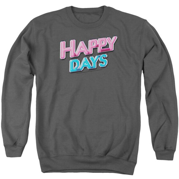 Happy Days Happy Days Logo Adult Crewneck Sweatshirt
