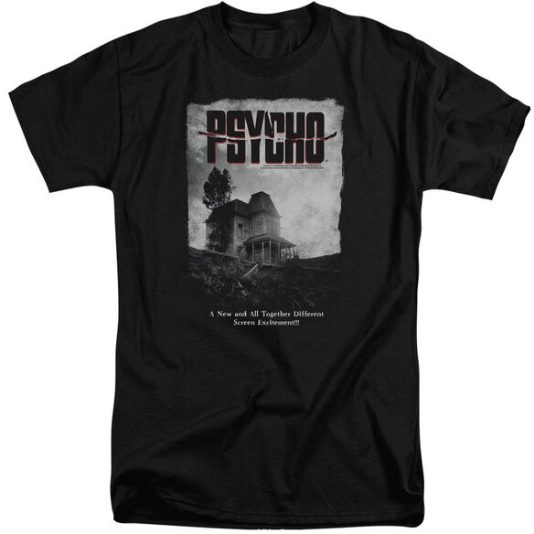 Psycho House Poster Short Sleeve Adult Tall T-Shirt