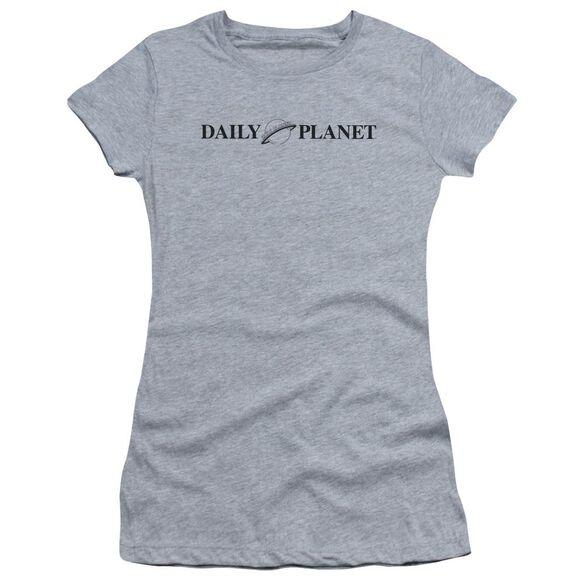 Superman Daily Planet Logo Short Sleeve Junior Sheer Athletic T-Shirt