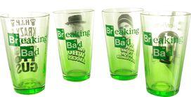 Breaking Bad Green Tint Pint Glass Set