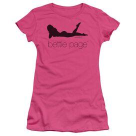 Bettie Page Fashion Logo Short Sleeve Junior Sheer Hot T-Shirt