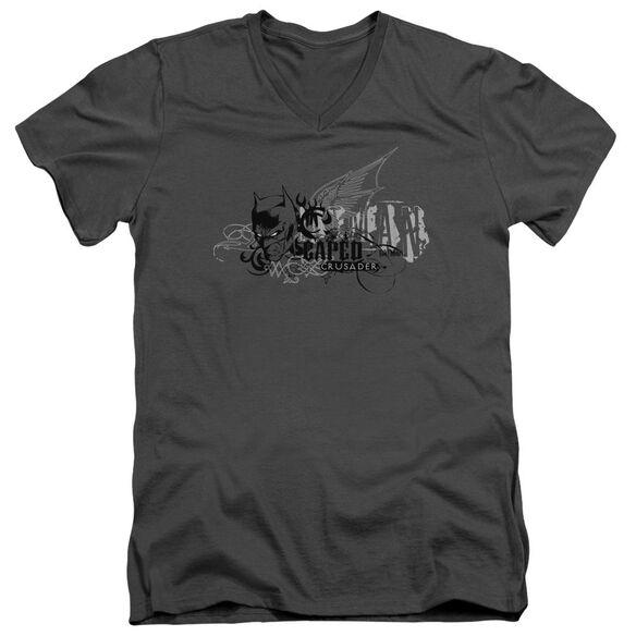 Batman Urban Crusader Short Sleeve Adult V Neck T-Shirt