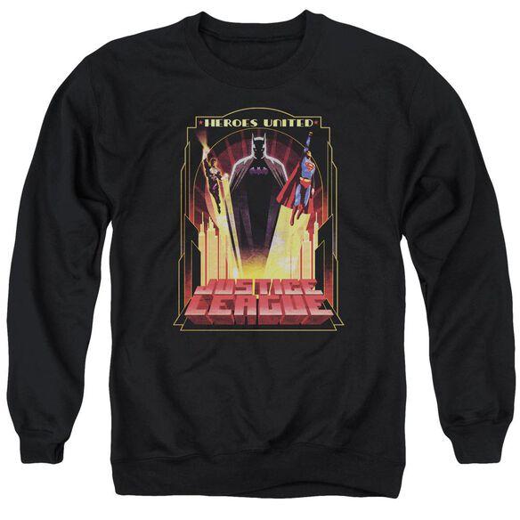 Jla Heroes United Adult Crewneck Sweatshirt