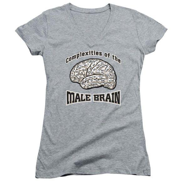 Male Brain Junior V Neck Athletic T-Shirt