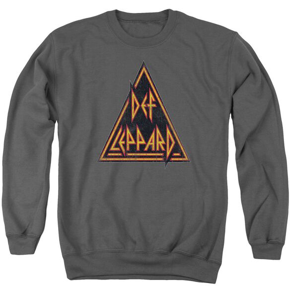 Def Leppard Distressed Logo Adult Crewneck Sweatshirt