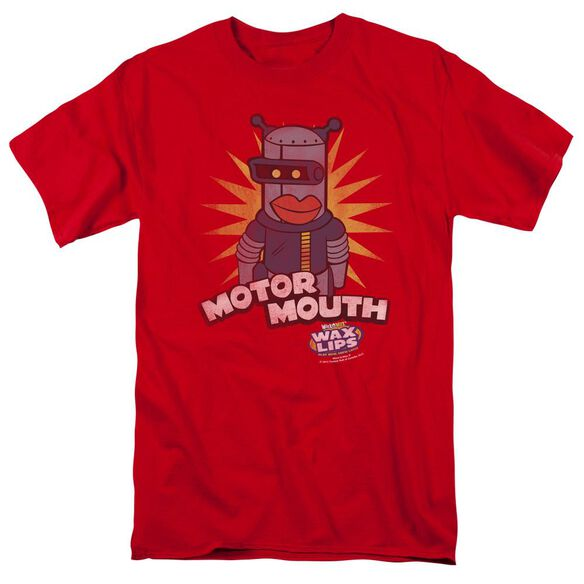 Dubble Bubble Motor Mouth Short Sleeve Adult Red T-Shirt