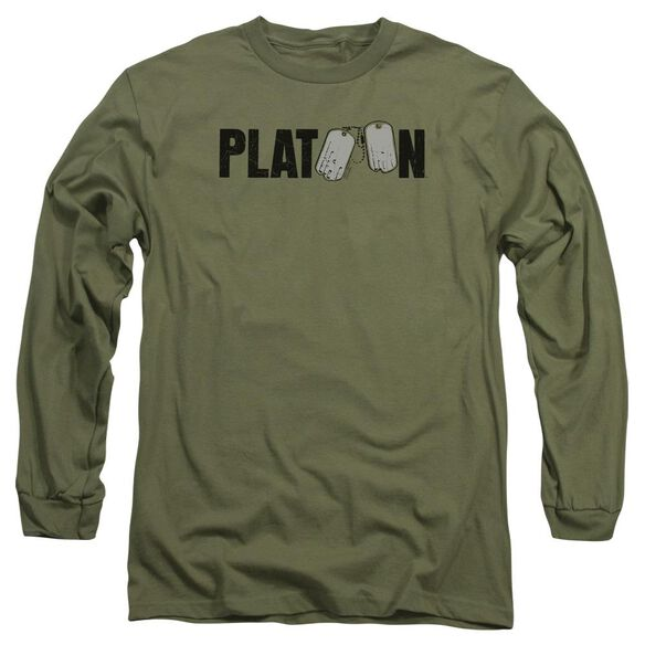 Platoon Logo Long Sleeve Adult Military T-Shirt