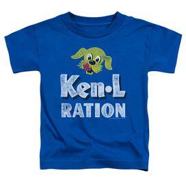 Ken L Ration Distressed Logo Short Sleeve Toddler Tee Royal Blue Sm T-Shirt