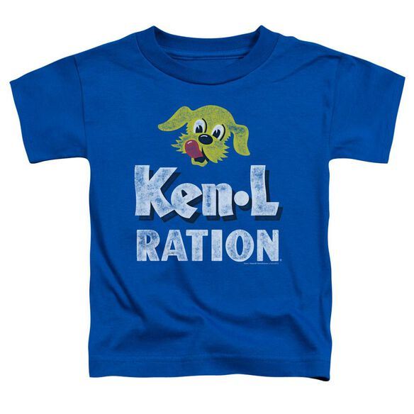 Ken L Ration Distressed Logo Short Sleeve Toddler Tee Royal Blue Sm T-Shirt