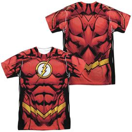Jla Flash 52 (Front Back Print) Short Sleeve Adult Poly Crew T-Shirt