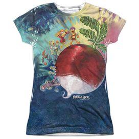 Fraggle Rock Giant Radish Short Sleeve Junior Poly Crew T-Shirt