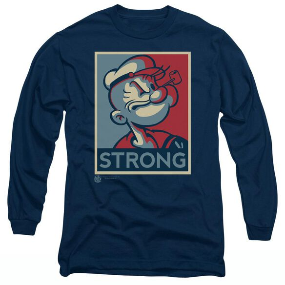 POPEYE STRONG - L/S ADULT 18/1 - NAVY T-Shirt