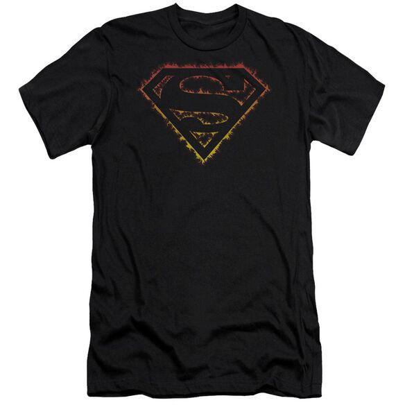 Superman Flame Outlined Logo Premuim Canvas Adult Slim Fit