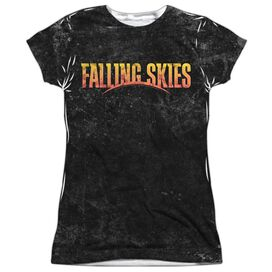 Falling Skies Harness Short Sleeve Junior Poly Crew T-Shirt