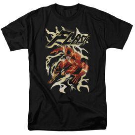 Jla Electric Run Short Sleeve Adult T-Shirt