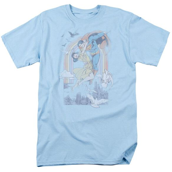Dc Rainbow Love Short Sleeve Adult Light Blue T-Shirt