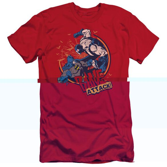 BATMAN BANE ATTACK! - S/S ADULT 30/1 - RED T-Shirt