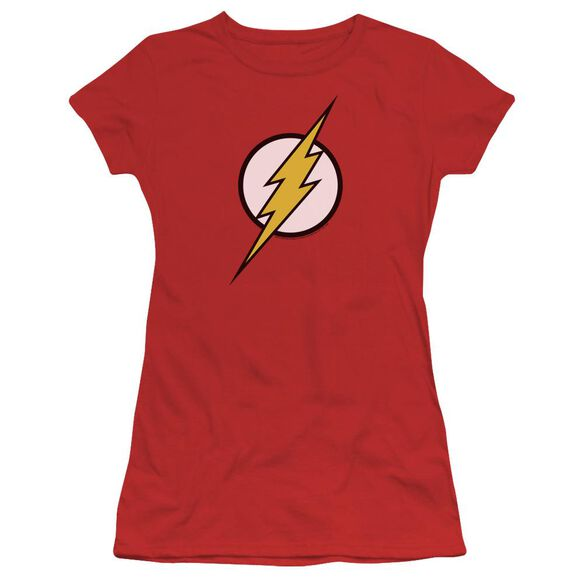 Jla Flash Logo Short Sleeve Junior Sheer T-Shirt