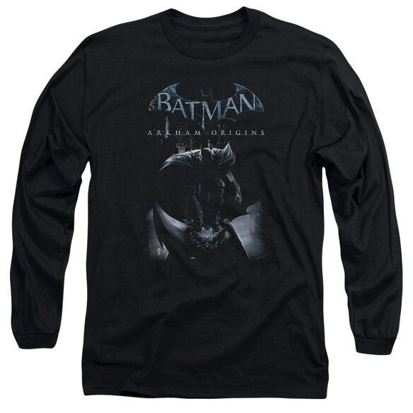 Batman Arkham Origins Perched Cat Long Sleeve Adult T-Shirt