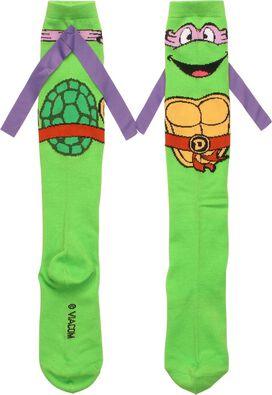 Ninja Turtles Donatello Ribbon Knee High Socks