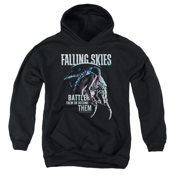 Falling Skies Battle Or Become Youth Pull Over Hoodie