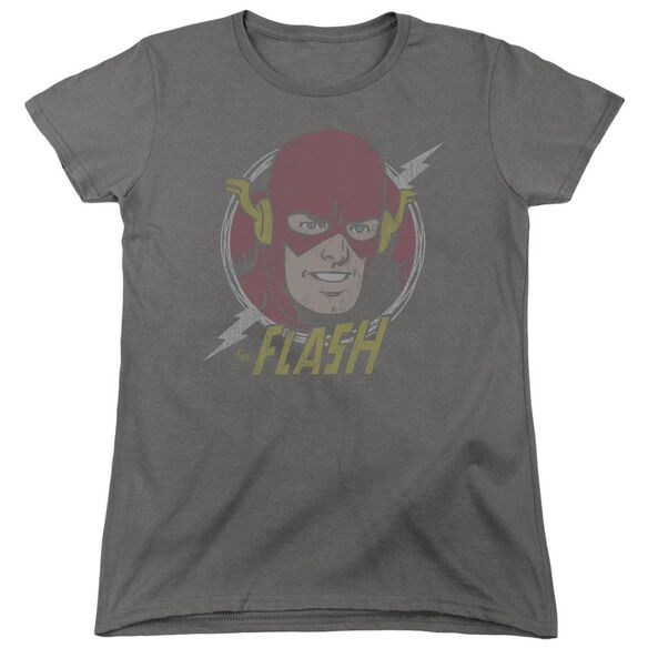 Dc Flash Vintage Voltage Short Sleeve Womens Tee T-Shirt