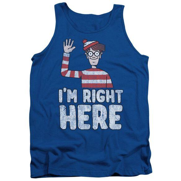 Wheres Waldo Im Right Here Adult Tank Royal