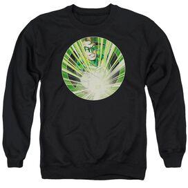Green Lantern Light Em Up - Adult Crewneck Sweatshirt - Black