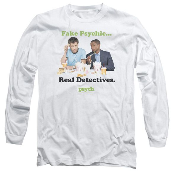 Psych Take Out Long Sleeve Adult T-Shirt