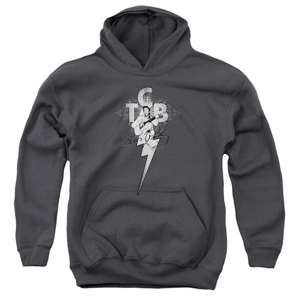 Elvis Tcb Ornate Youth Pull Over Hoodie