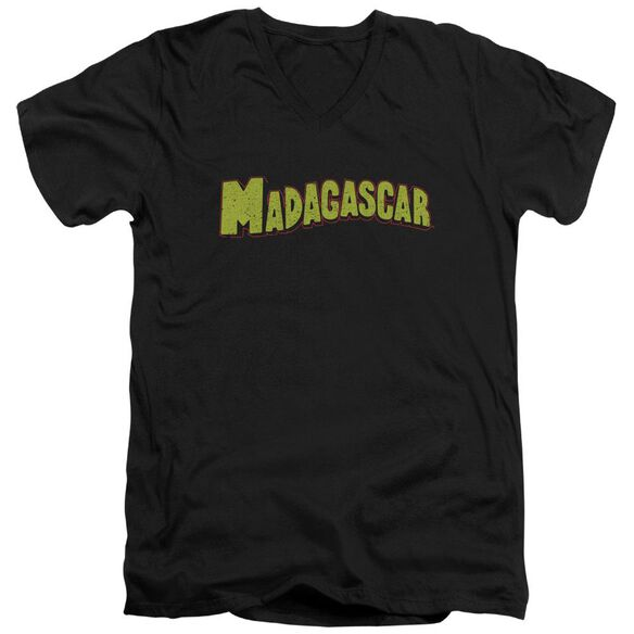 Madagascar Logo Short Sleeve Adult V Neck T-Shirt