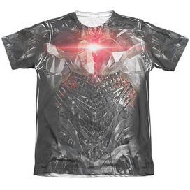 Justice League Movie Cyborg Uniform Adult Poly Cotton Short Sleeve Tee T-Shirt