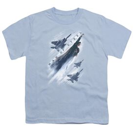Man Of Steel Air Superiority Short Sleeve Youth Light T-Shirt