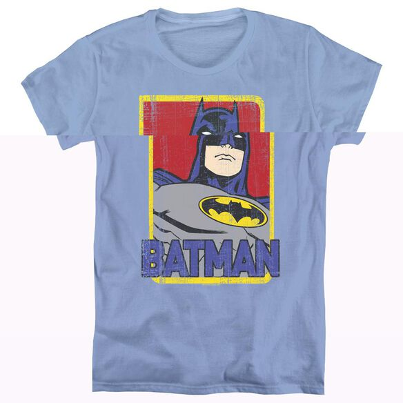 BATMAN PRIMARY - S/S WOMENS TEE - CAROLINA BLUE T-Shirt