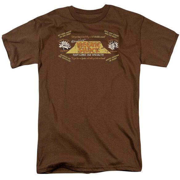 Weenie Shack Short Sleeve Adult Coffee T-Shirt