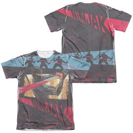 Ninjak Fight (Front Back Print) Adult Poly Cotton Short Sleeve Tee T-Shirt