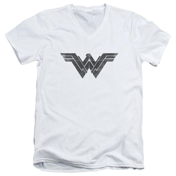 Batman V Superman Folded And Distressed Short Sleeve Adult V Neck T-Shirt