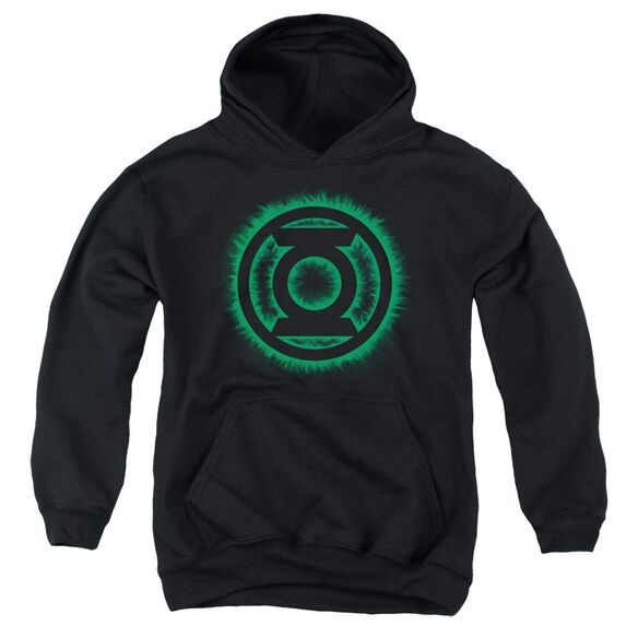 Green Lantern Green Flame Logo Youth Pull Over Hoodie